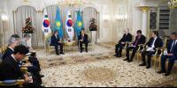 FIRST PRESIDENT OF KAZAKHSTAN NURSULTAN NAZARBAYEV MET WITH SOUTH KOREAN PRESIDENT MOON JAE-IN