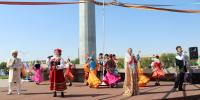 Алматы облысының ҚХА Талдықорғанның туған күнінде ұлттық салттардың театрландырылған көрінісін ұсынды
